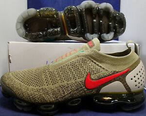 reputable site 8eda9 abb2c Details about Nike Air VaporMax Flyknit Moc 2 Neutral Olive Habanero Red SZ  11 ( AH7006-200 )