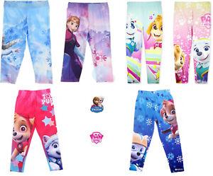 OFFICIAL-Kids-Girls-Paw-Patrol-Frozen-Leggings-Bottoms-Pants-Trousers-Ages-2-8
