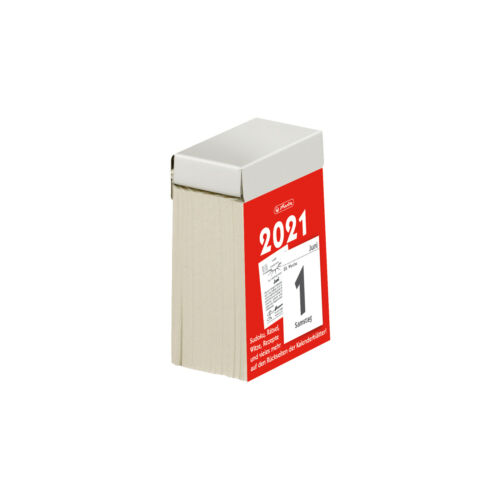 herlitz Tages-Abreißkalender Nr 1 2021 Tageskalender Abrisskalender 4x6cm