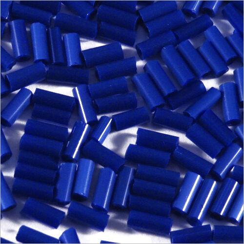 Perles de Rocailles Tubes en verre Opaque 4x2mm Bleu foncé 20g