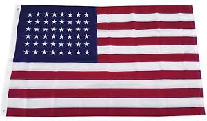 3x5-Ft-48-STARS-AMERICAN-Flag-EMBROIDERED-NYLON-USA-US-OLD-GLORY-STAR-SPANGLED
