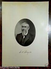 Antique Print 1912 SYLVANUS NELSON STAPLES Taunton, MA Massachusetts