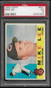 1960-Topps-Mike-Lee-Cleveland-Indians-521-PSA-5-EX-SET-BREAK-Rookie-Card-RC