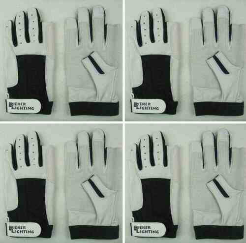 4 Paar BluePort Segelhandschuhe aus Rindsleder Gr M (8) Rigginghandschuhe Roadie