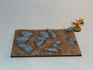 Large-Monster-Scenic-resin-base-150X100mm-Unpainted-Rough-ground-base-X1