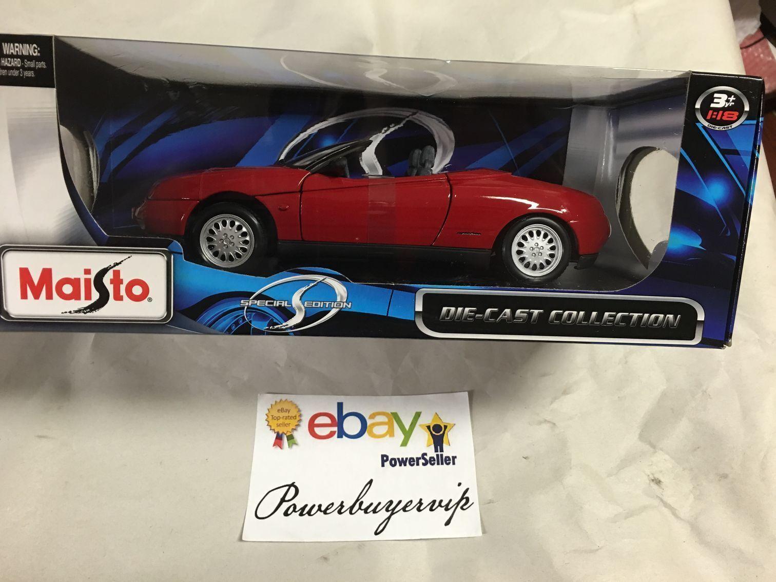 NEW Maisto 1:18 Special Edition Alfa Romeo Spider 1995 Mode Car, Red 2 DAY GET