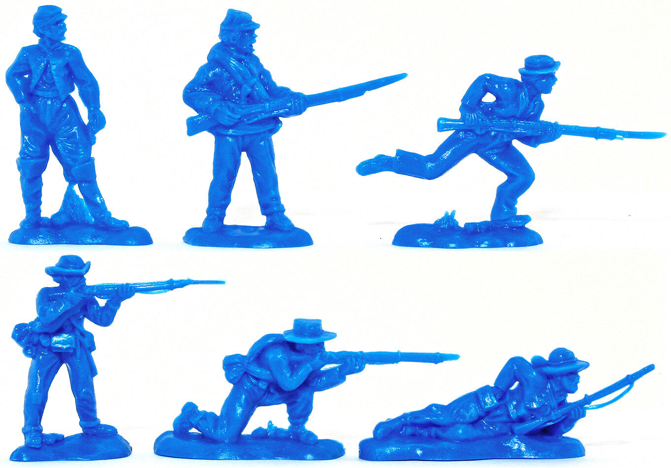 Replicants 12 Vets in mid bluee color - 54mm soft plastic - 2 of each pose