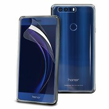 For Huawei Honor 8 - Tough Thin Clear TPU Gel Case Cover & Screen Guard