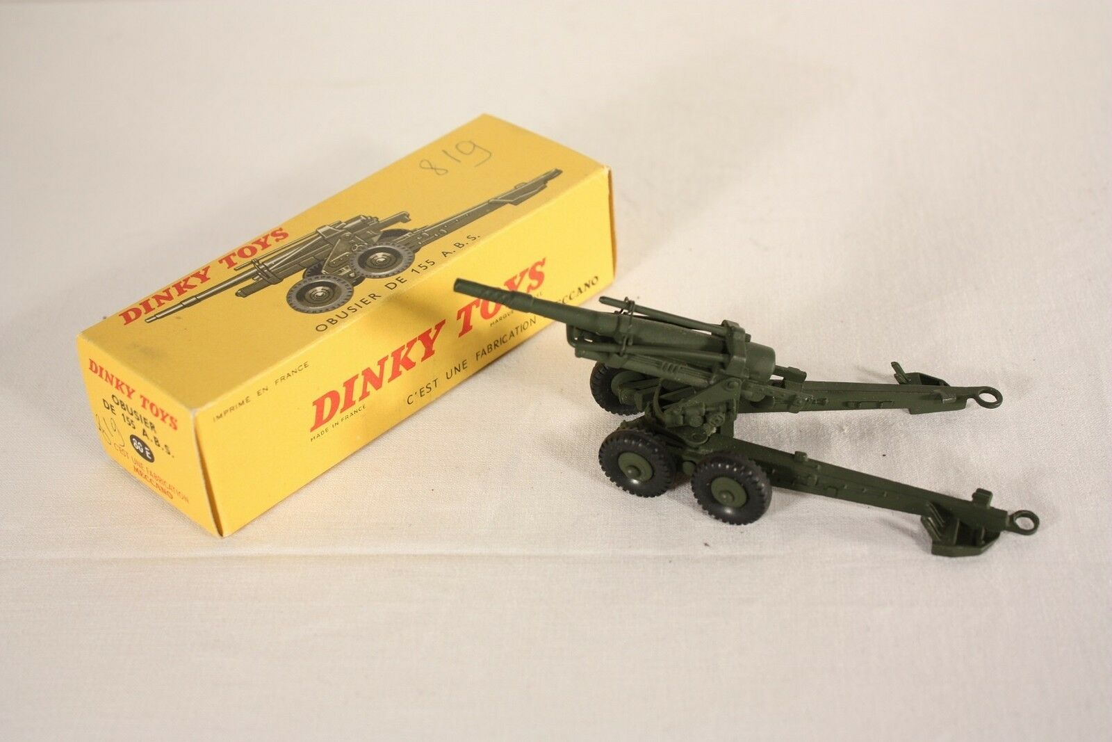Dinky Toys 80 e, obusier de 155 A.b.s., Mint en Box  ab618
