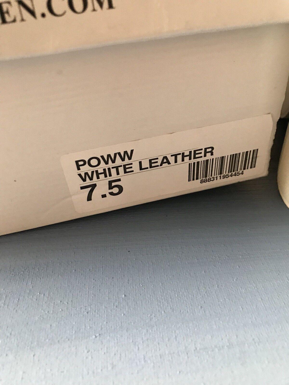 NEW Steve Madden Leather Platform Pumps, Pumps, Pumps, White, Size  7.5 Heels 46e9cf