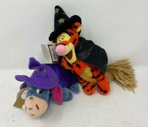 Disney-Store-Winnie-The-Pooh-Halloween-Beanie-Soft-Toy-Plush-Witch-Wizard-Magic