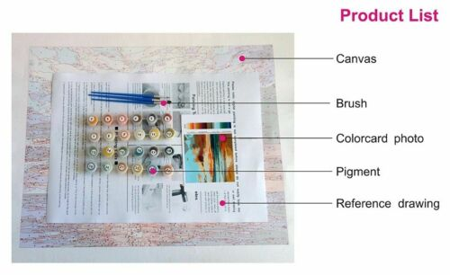 Classical Rose Flowers Propylene Paint By Numbers Kits For Adults DIY Painting