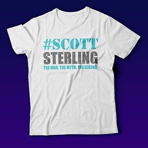 New Scott Sterling The Man The Myth The Legend Funny White T-Shirt ... 6d308185f7