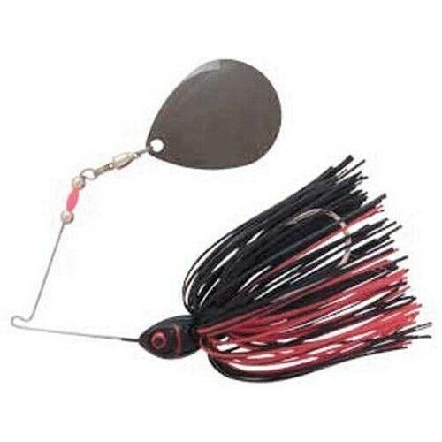 Booyah BYMT12603 Moontalker Black Red 1//2oz Spinnerbait Fishing Lure