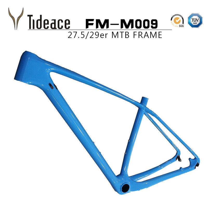T800 de fibra de Cochebono PF30 Cuadro para Bicicleta de Montaña Bicicleta de Montaña Azul Negro Mate Brillante Marcos