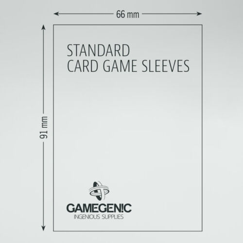 200 Gamegenic Standard Card Size Board Game Sleeves Clear 66 x 91mm Value Pack