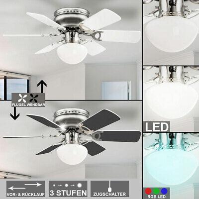 LED Decken Ventilator Wohn Zimmer Kühler RGB Fernbedienung Lüfter Big Light