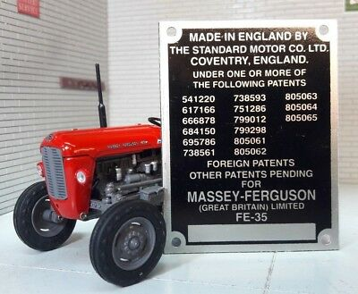 Ferguson TRACTOR FE35 Commission Plate