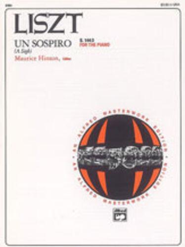Franz 6385 Un Sospiro; Liszt ALFRED Piano Solo