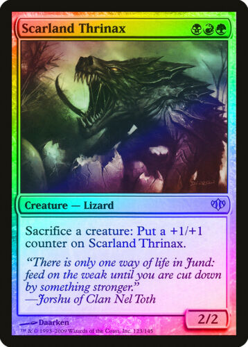 Scarland Thrinax FOIL Conflux NM-M Black Red Green Uncommon MAGIC CARD ABUGames