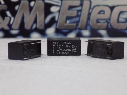 5x Axicom and Alcatel MT-C93402 Low Signal Relays PCB DPDT 1.25A 12VDC