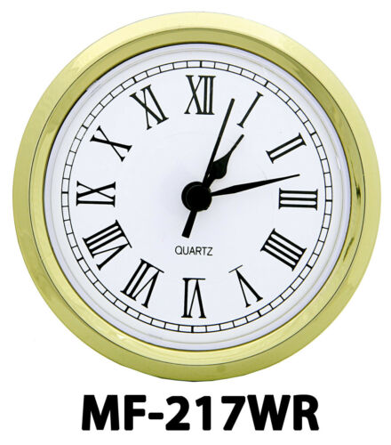 """Choose from 5 Styles! NEW 2-13//16/"""" Complete Clock Insert or Fit-Up Movement"""