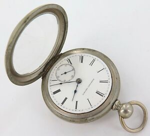 SUPER-RARE-1873-ELGIN-B-W-RAYMOND-18S-15J-POCKET-WATCH-ONLY-29-154-MADE
