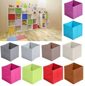 Non-Woven-Fabric-Baskets-Storage-Box-Cube-Toy-Magazine-Bookcase-Shelf-31x31x31cm