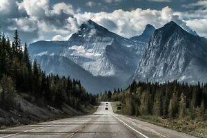 A1-Mountain-Road-Poster-Art-Print-60-x-90cm-180gsm-Driving-Forest-Gift-8549