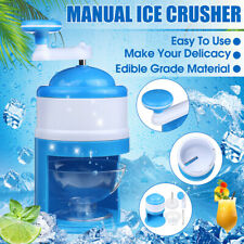 Ice Crusher Shaver Portable Manual Block Shaving Maker Machine Snow Cone Shaved