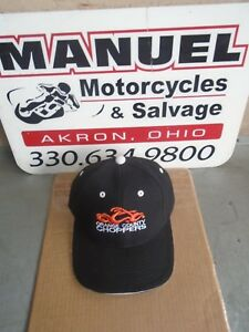 BASEBALL CAP Orange County Choppers embroidered Black Nwot Unisex Adj back #7