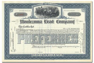 Lead /& Iron Company Stock Certificate Pennsylvania Mining Dillsburg Copper