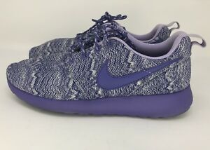 new products c315d e8bba Details about Nike Size 6.5Y Roshe Run Purple Haze Gray Printed Sneaker  677784-001