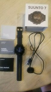 Suunto 7 Watch - All black, Pre-Owned, Worn only two days. Comes with charger.