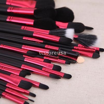 32PCS Makeup Brush Brushes Set Kit Professional Wood Make up Tool Black Rose