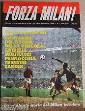 FORZA MILAN!=N°4 4/1970=ISRAELE=STORIA DEL MILAN TRICOLORE=
