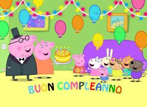 Cialda Zucchero Peppa Pig Decorazione Torta Rettangolare Buon