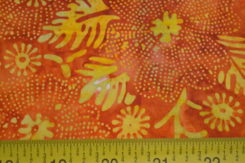 By 1//2 Yd Yellow /& Orange Quilting Batik B361 Moda//Paradise Batiks//4505 11