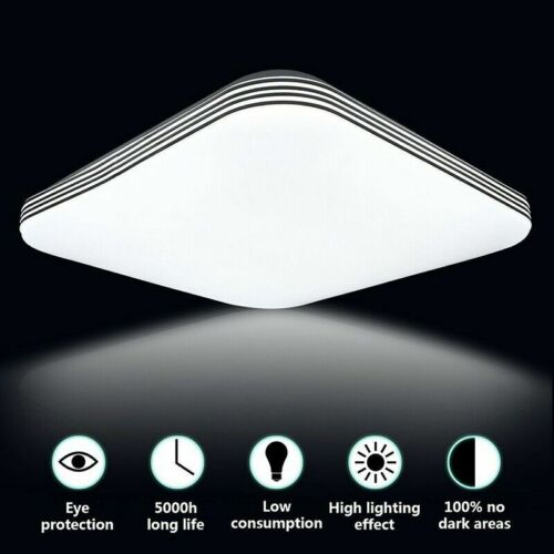 Dimmable Bright Square LED Ceiling Down Light Panel Wall Kitchen Bathroom Lamp