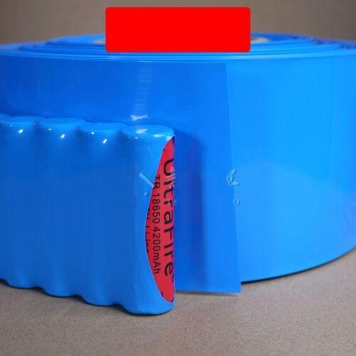 Battery Sleeve PVC Heat Shrinkable Tube Wrap Blue Width 145MM Φ92MM x 1M