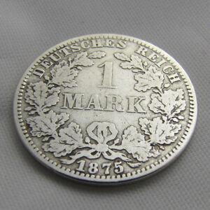 Schöne Alte 1 Mark Münze A 1875 Deutsches Reich Kaiserreich Kleiner