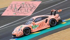 Intelligent Calcas Porsche 991 Rsr Le Mans 2018 92 1:32 1:43 1:24 1:18 911 Pink Pig Decals