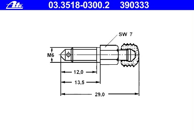Entlüfterventil a6084200155 mercedes benz 03.3518-0800.2 ate Breather screw