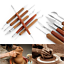 6Pcs-Professional-Clay-Sculpting-Wax-Carving-Pottery-Tool-Shapers-Polymer-Model miniature 3