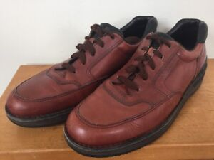 465fa00b38b15a Image is loading Rockport-RocSports-ProWalker-Brown-Leather-Vibram -Soled-Oxfords-