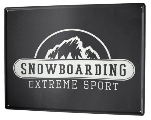 Tin Sign XXL Fun  Snowboarding
