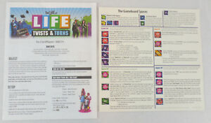 instruction manual for the game of life twists and turns plus quick rh ebay com Life Rules Star Wars Game Monsters Inc Life Game Rules