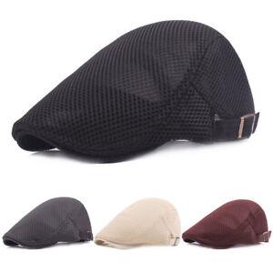 Men Women Mesh Summer Driving Golf Newsboy Hat Outdoor Beret Casual ... b7e0cce2cdc