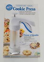 Wilton Comfort Grip Spritz Christmas Cookie Press W/ 12 Disks Niob
