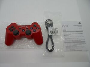 Red Sony Playstation 3 PS3 SixAxis DualShock 3 Controller OEM CECHZC2U UNUSED